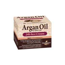 Argan 24H Moisturizing Cream Normal & Dry Skin 50ml