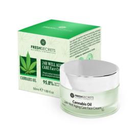 Fresh Secrets Face Cream 24Η Well Aging Care *Cannabis* 50ml