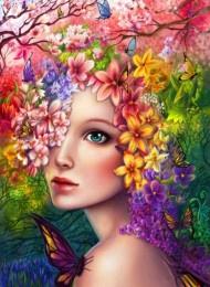 Schilderen Op Nummer - Fox Flower Lady