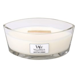 Woodwick Ellipse Candle - White Tea & Jasmine