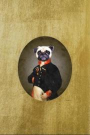 Glasschilderij Ter Halle - Mopshond
