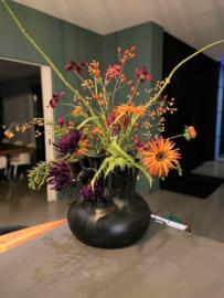 Toetervaas zwart - 7 Mouth Vase