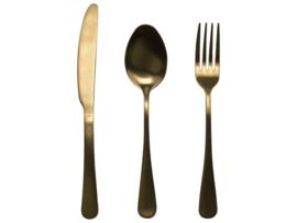 Gusta - Bestekset driedelig goud