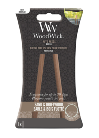 Woodwick Auto Reeds Refill - Sand & Driftwood