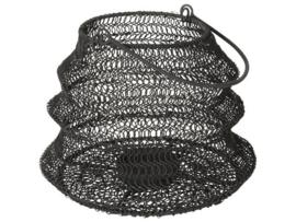 Gusta - Opvouwbaar windlicht zwart 20x15cm