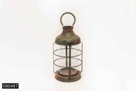 Brocante lantaarn rosti/groen