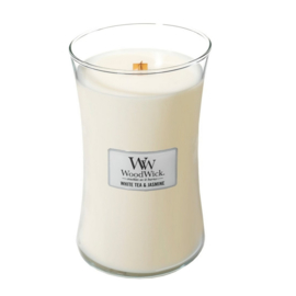 Woodwick Large Candle - White Tea & Jasmine