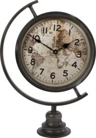 Klok 'wereldbol' 14x35x50 cm
