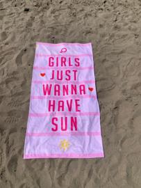 Texy Towel Strandlaken - Girls just wanna have sun