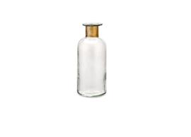 Nkuku - Chara Hammered Bottle Clear Glass & Antique Medium