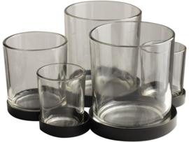 Gusta - Metalen houder met glaasjes 5pcs