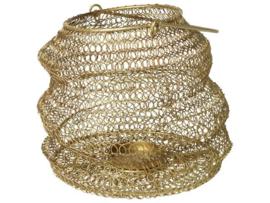 Gusta - Opvouwbaar windlicht goud 20x15cm