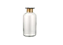 Nkuku - Chara Hammered Bottle Clear Glass & Antique Large