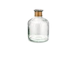Nkuku - Chara Hammered Bottle Clear Glass & Antique Small