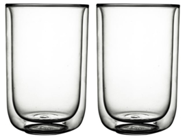 Gusta - Dubbelwandig glas FIKA 400ml set van 2