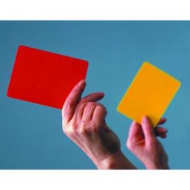Scheidsrechter kaarten: Geel & Rood