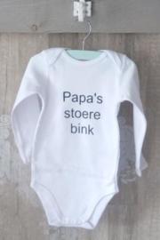 "Romper ""Papa's stoere bink"""