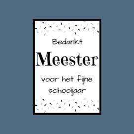 Ansichtkaart | Bedankt Meester
