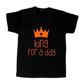 Baby- en kindershirt | King for a day