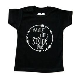 Baby- en kindershirt | Sweetest little sister ever
