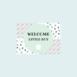Ansichtkaart | Welcome little boy