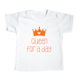 Baby- en kindershirt | Queen for a day