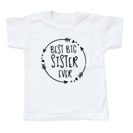 Baby- en kindershirt | Best big sister ever