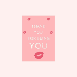 Ansichtkaart | Thank you for being you