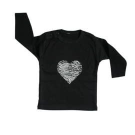 Baby- en kindershirt | Fingerprint Heart