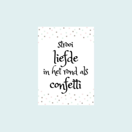 Ansichtkaart | Confetti