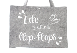 Vilten tas | Life is better in flip-flops