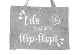 Vilten tas | Life is better in flip-flops