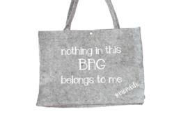 Vilten tas | Nothing in this bag belongs to me