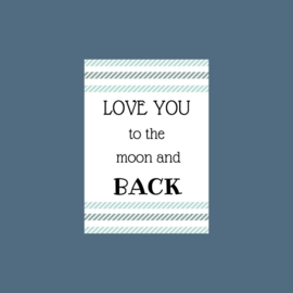 Ansichtkaart | Love you to the moon and back