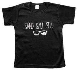Baby- en kindershirt | Sand Salt Sea (maat 68, zwart, korte mouw)