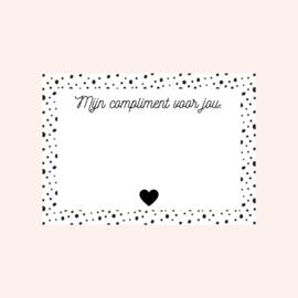 Ansichtkaart | Mijn compliment voor jou