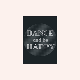Ansichtkaart | Dance and be happy