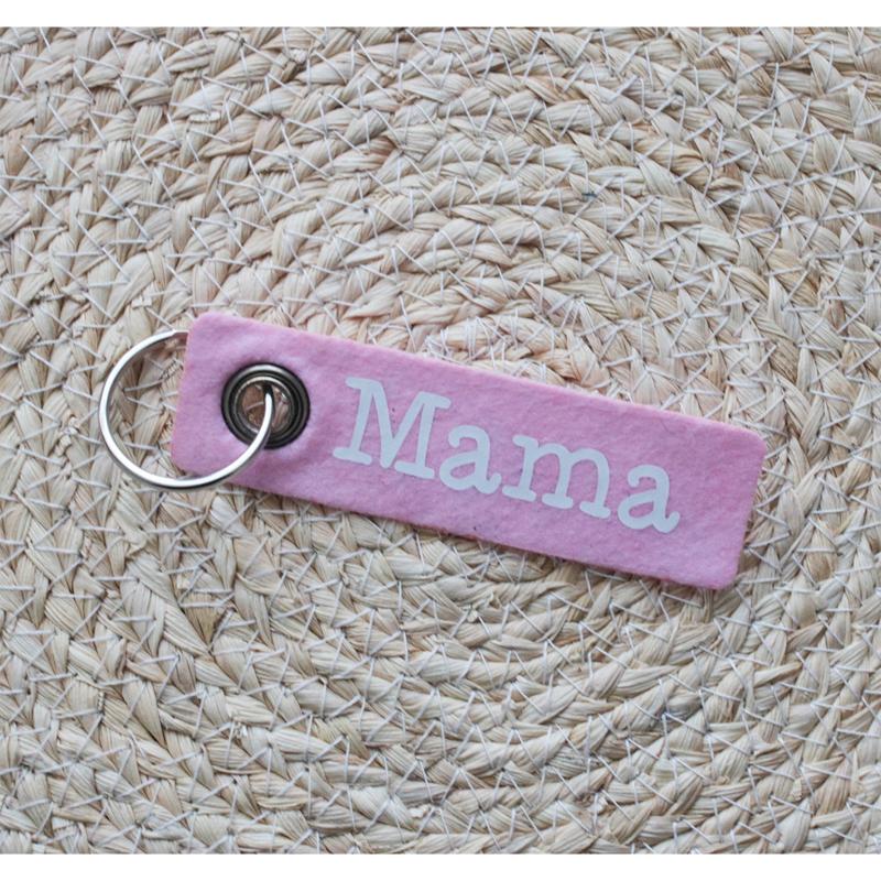 Vilten sleutelhanger   Mama