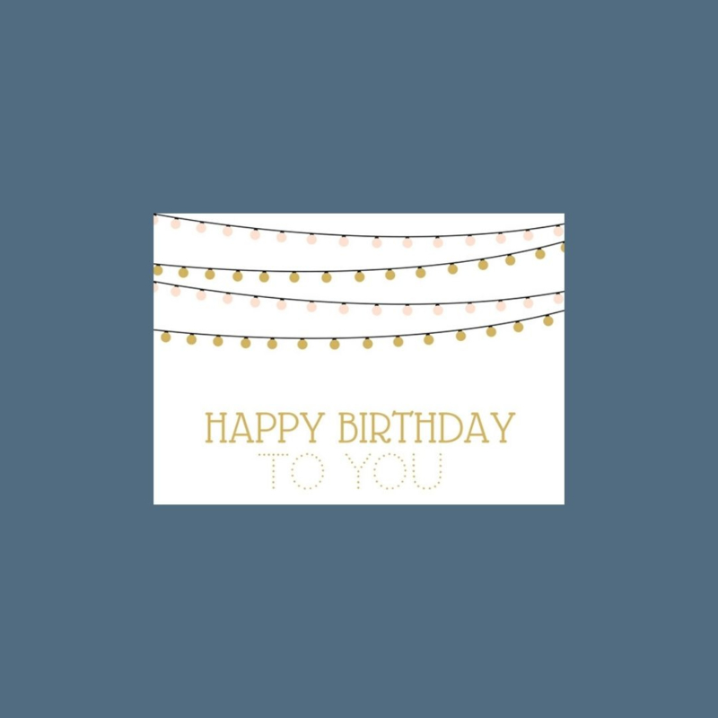 Ansichtkaart | Happy Birthday