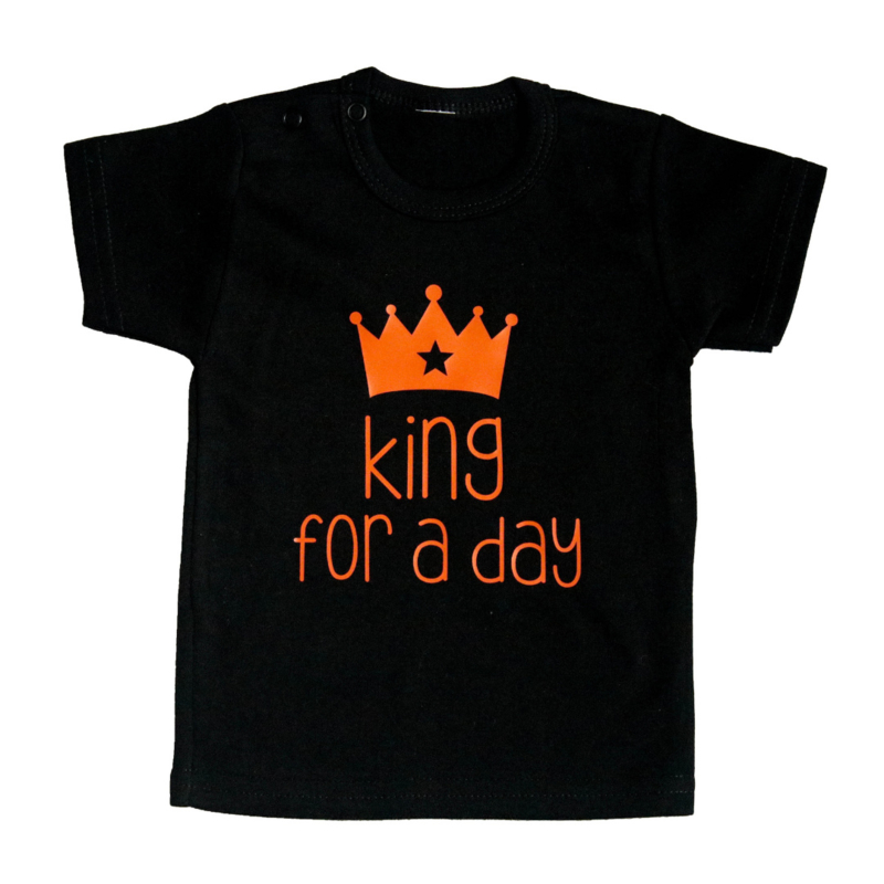 Baby- en kindershirt   King for a day