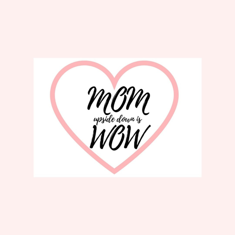 Ansichtkaart | MOM upside down is WOW