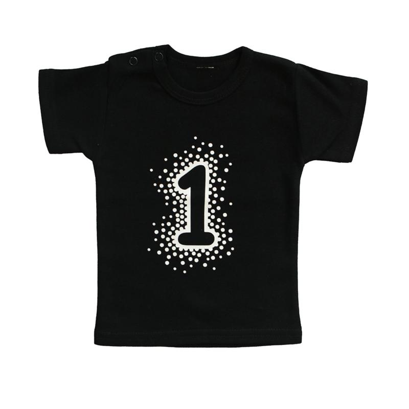 Baby- en kindershirt   Cijfer Dots