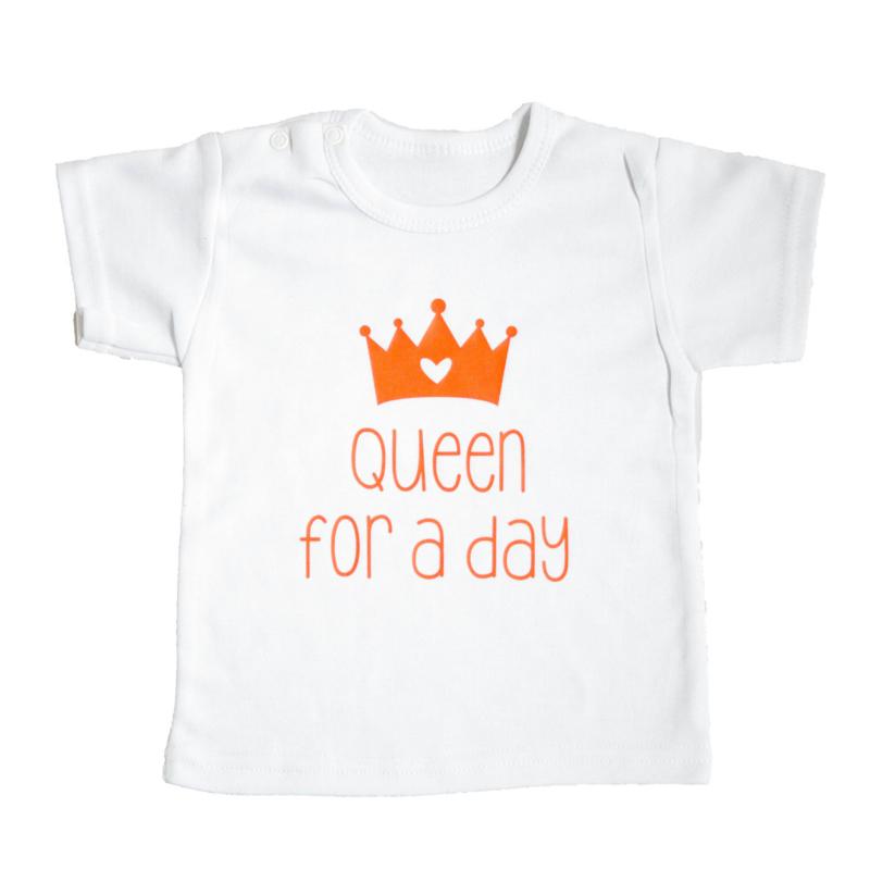 Baby- en kindershirt   Queen for  a day