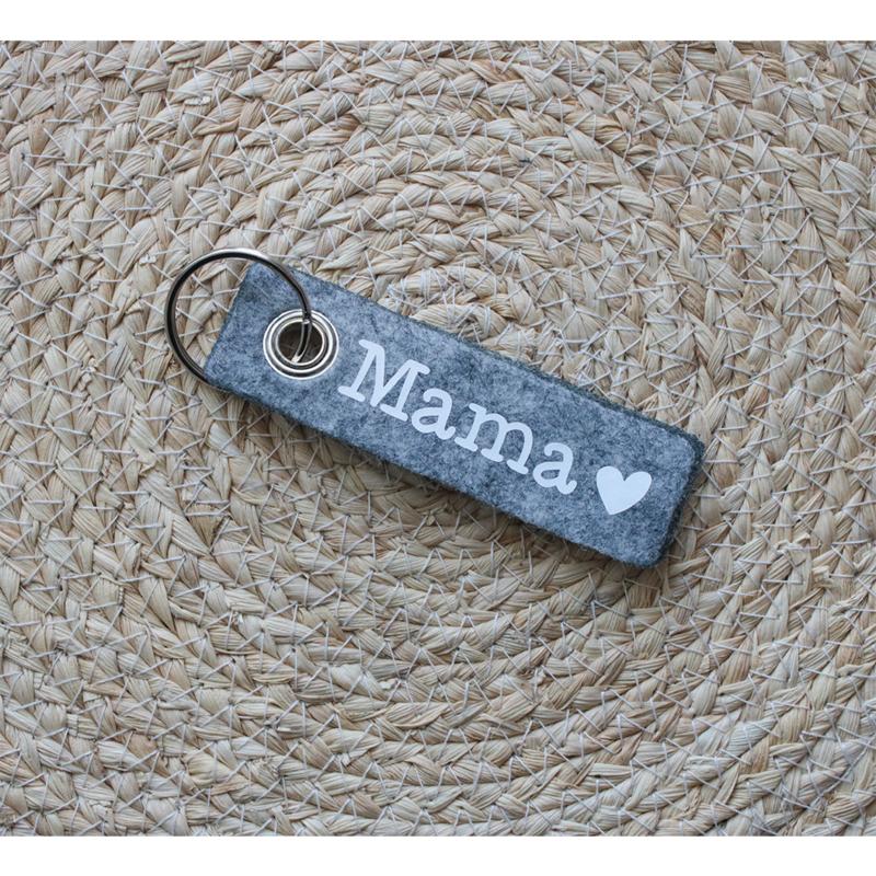 Vilten sleutelhanger | Mama hartje