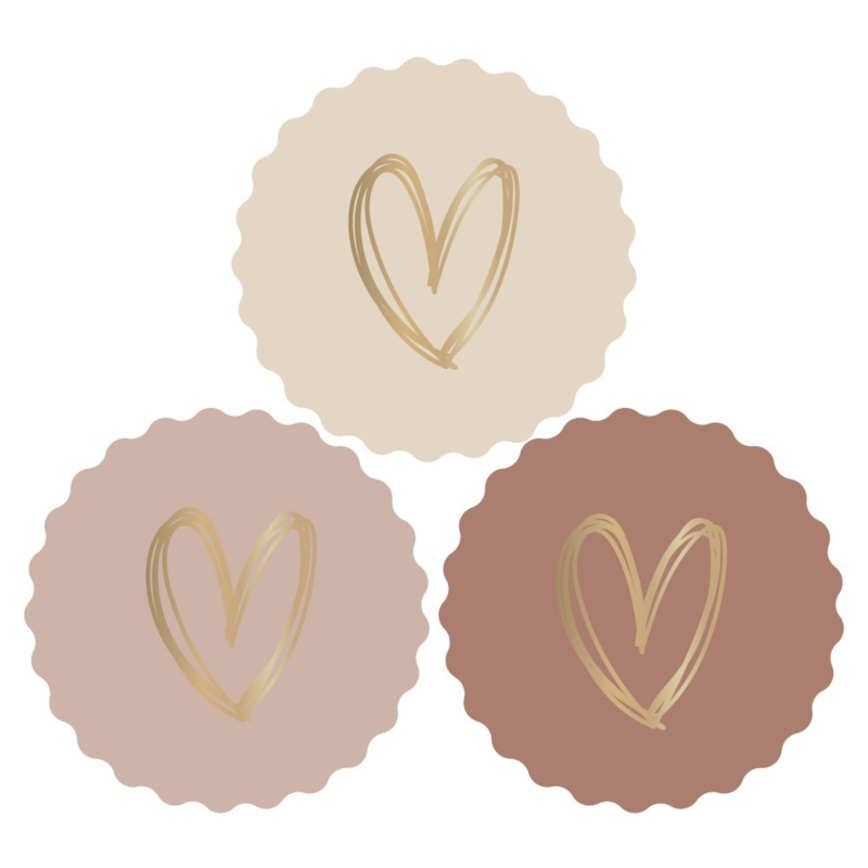 Stickers   Heart of gold rosé