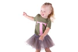 Baby/Kids Shirt Cijfer & Letter/naam