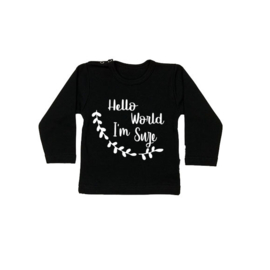 Baby/Kids Shirt Hello World I'm Naam