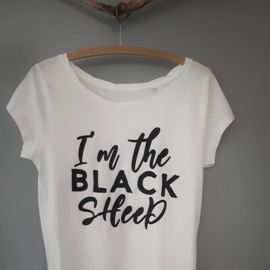 Dames t-shirt I'm the Black Sheep
