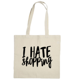 Canvas Bag I Hate Shopping