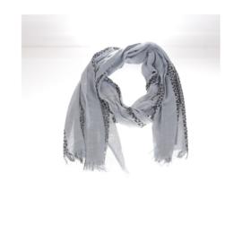 Sjaal grijs/ Zwarte print